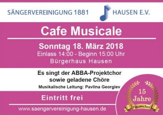 Cafe Musicale Flyer